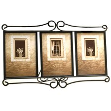 <strong>Fetco Home Decor</strong> Tuscan Alton Triple Picture Frame