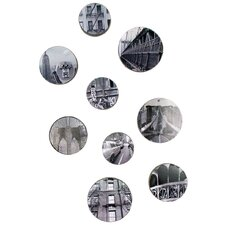 9 Piece Rowhouse New York City Bubbles Wall Décor Set