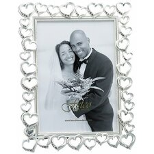 <strong>Fetco Home Decor</strong> Wedding Open Heart with Crystals Picture Frame