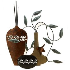 <strong>Fetco Home Decor</strong> Paulina Vases 3 Piece Wall Décor Set