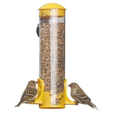 Finch Window Tube Bird Feeder (Set of 2)