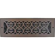 "5.5"" x 15.5"" Scroll Vent with Damper"