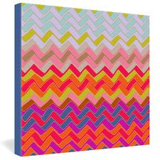 <strong>DENY Designs</strong> Sharon Turner Geo Chevron Gallery Wrapped Canvas