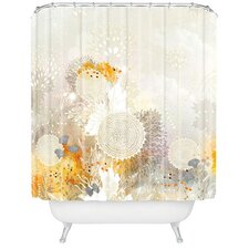 Iveta Abolina White Velvet Shower Curtain