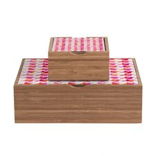 <strong>DENY Designs</strong> Betsy Olmsted Watercolor Houndstooth Storage Box