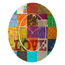 Elizabeth St. Hilaire Nelson Love Wall Clock