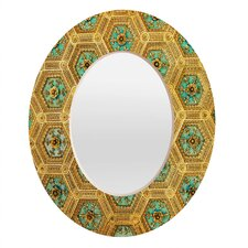 Happee Monkee Honeycomb Oval Mirror