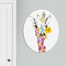 <strong>DENY Designs</strong> Casey Rogers Giraffe Color Oval Magnet Board