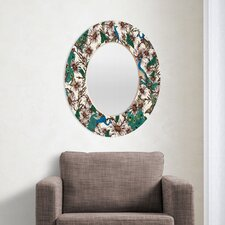 <strong>DENY Designs</strong> Belle13 Butterflies in My Peacock Garden Oval Mirror