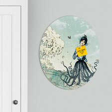 <strong>DENY Designs</strong> Belle13 Sea Fairy Oval Magnet Board
