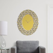 Bianca Green Braids Mustard Clock