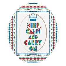<strong>DENY Designs</strong> Andi Bird Keep Calm And Carry On Wall Clock