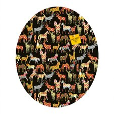 <strong>DENY Designs</strong> Sharon Turner Deer Horse Ikat Party Oval Magnet Board