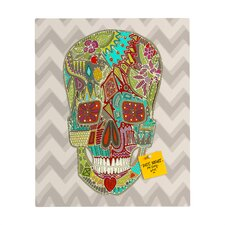Sharon Turner Flower Skull Rectangular Magnet Board