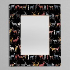 Sharon Turner Charcoal Spice Deer Rectangular Mirror