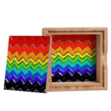 <strong>DENY Designs</strong> Sharon Turner Rainbow Chevron Storage Box