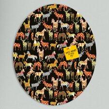 Sharon Turner Deer Horse Ikat Party Oval Bulletin Board