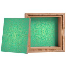 Jacqueline Maldonado Radiate Teal Gold Storage Box