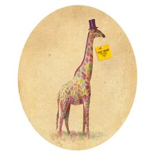 <strong>DENY Designs</strong> Terry Fan Fashionable Giraffe Oval Magnet Board