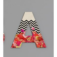 Bianca Green Chevron Flora 2 Decorative Letters