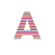 Amy Sia Chevron 1 Decorative Letters