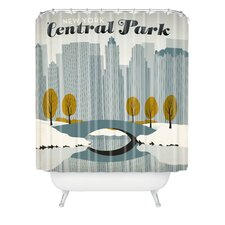 Anderson Design Group Woven Polyester Central Park Snow Shower Curtain