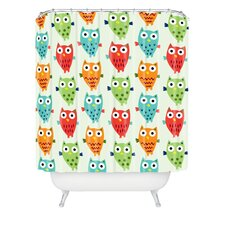 <strong>DENY Designs</strong> Andi Bird Woven Polyester Owl Fun Shower Curtain