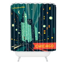 <strong>DENY Designs</strong> Anderson Design Group Woven Polyester Chicago Mag Mile Shower Curtain
