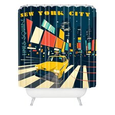 <strong>DENY Designs</strong> Anderson Design Group Woven Polyester NYC Times Square Shower Curtain