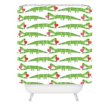Andi Bird Woven Polyester Alligator Love Shower Curtain