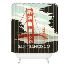 <strong>DENY Designs</strong> Anderson Design Group Woven Polyester San Francisco Shower Curtain