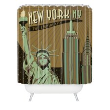 <strong>DENY Designs</strong> Anderson Design Group Woven Polyester New York Shower Curtain