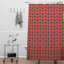 Andrea Victoria Ahoy Anchors Shower Curtain