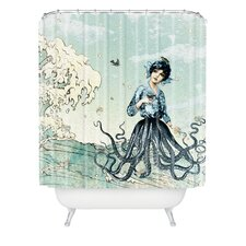 Belle13 Sea Fairy Polyester Shower Curtain
