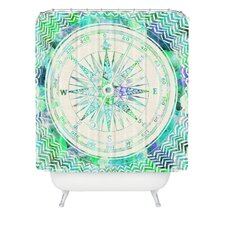 Bianca Polyester Follow Your Own Path Mint Shower Curtain