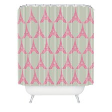<strong>DENY Designs</strong> Bianca Woven Polyester Oui Oui Shower Curtain