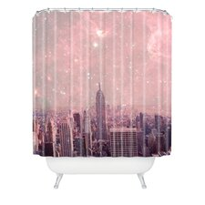 Bianca Green Stardust Covering New York Shower Curtain