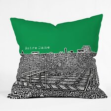 Bird Ave Notre Dame Woven Polyester Throw Pillow