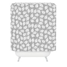 Bianca Woven Polyester Leafy Shower Curtain