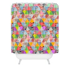 Bianca Woven Polyester Lost in Pyramid Shower Curtain