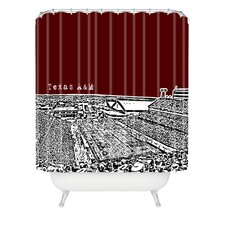 Bird Ave Woven Polyester Texas A and M Maroon Shower Curtain