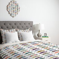<strong>DENY Designs</strong> Bianca Green Mustache Mania Duvet Cover Collection