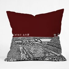 Bird Ave Texas A and M Woven Polyester Throw Pillow