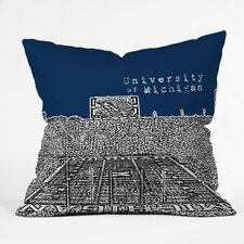 <strong>DENY Designs</strong> Bird Ave University of Michigan Woven Polyester Throw Pillow