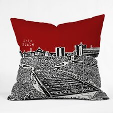 Bird Ave Ohio State Buckeyes Woven Polyester Throw Pillow