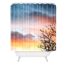 <strong>DENY Designs</strong> Bird Wanna Whistle Woven Polyester Bird Line Shower Curtain