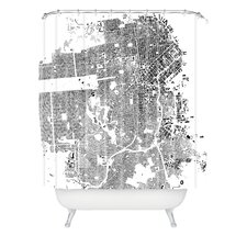 <strong>DENY Designs</strong> CityFabric Inc Woven Polyester San Francisco Shower Curtain
