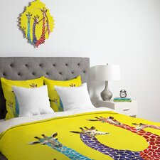 <strong>DENY Designs</strong> Clara Nilles Jellybean Giraffes Duvet Cover Collection