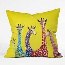 Clara Nilles Jellybean Giraffes Indoor / Outdoor Polyester Throw Pillow