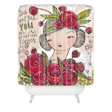 <strong>DENY Designs</strong> Cori Dantini Woven Polyester Dear Sweet Girl Shower Curtain